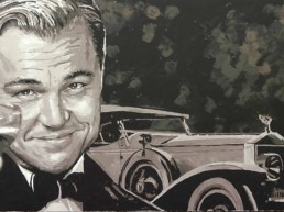 Leonardo DiCaprio portrait painting by Peter Engels