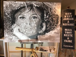 Brigitte Bardot portrait painting by Peter Engels