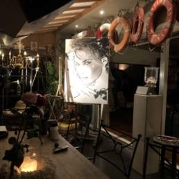 Work in progress - Monica Bellucci portrait painting by Peter Engels