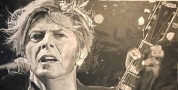 David Bowie portrait painting by Peter Engels