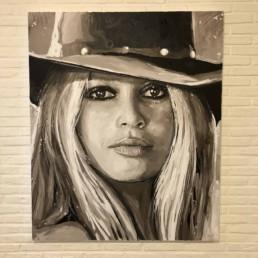 Portretschilderij Brigitte Bardot door kunstchilder Peter Engels