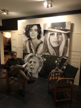 Portretschilderij Penelope Cruz, Brigitte Bardot, David Bowie door kunstchilder Peter Engels