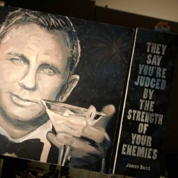 James Bond quote for the Daniel Craig portrait painting by Peter Engels