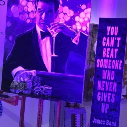 James Bond actor Pierce Brosnan portrait painting by Peter Engels