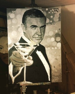 Sean Connery portrait painting by Peter Engels