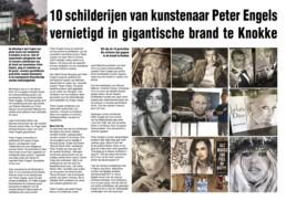 10 schilderijen van Peter Engels vernield in brand te Knokke