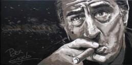 Robert De Niro painting by Peter Engels