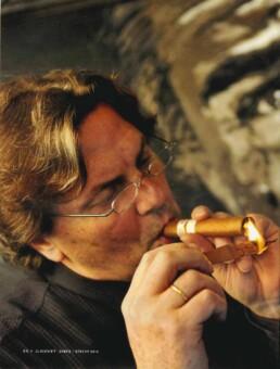 Robert de Niro painting by Peter Engels. Interview in El Gusto magazine.