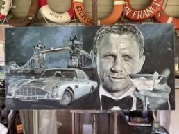 Daniel Craig James Bond No Time To Die portrait painting by Peter Engels artist